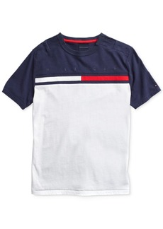 Tommy Hilfiger Adaptive Little Boys T-Shirt with Adjustable Shoulder Closure