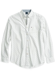 Tommy Hilfiger Adaptive Men' s Geo-Print Shirt with Magnetic Buttons