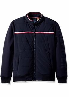 050196976 Tommy Hilfiger Tommy Hilfiger Men's Faux Leather Bomber Jacket ...