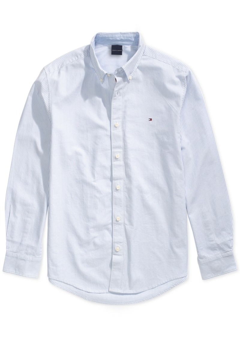 Tommy Hilfiger Adaptive Men's City Stripe Oxford Shirt with Magnetic Buttons