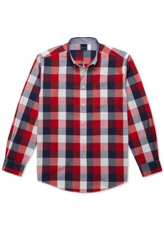 Tommy Hilfiger Adaptive Men's Classic-Fit Calmon Plaid Magnetic Long Sleeve Button Down Shirt