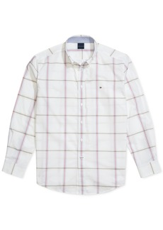 Tommy Hilfiger Adaptive Men's Classic-Fit Cullen Plaid Magnetic Long Sleeve Button Down Shirt