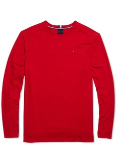 Tommy Hilfiger Adaptive Men's Delancey Solid Long Sleeve T-Shirt with Magnetic Buttons at Shoulders