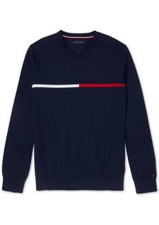 Tommy Hilfiger Adaptive Men's Logo Sweatshirt with Velcro Shoulder Closures