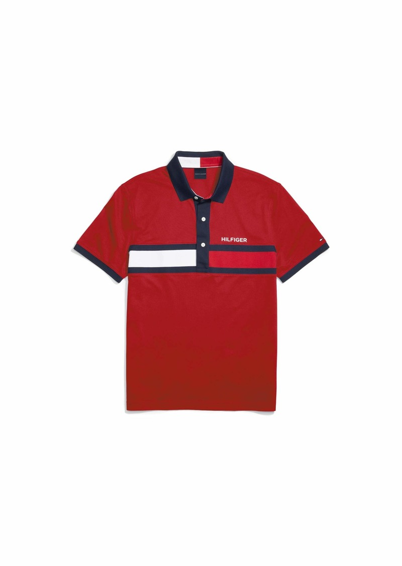Tommy Hilfiger Adaptive Men's Polo Shirt with Magnetic Buttons Custom Fit APPLE RED XL