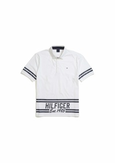 Tommy Hilfiger Adaptive Men's Polo Shirt with Magnetic Buttons Custom Fit BRIGHT WHITE-PT LG