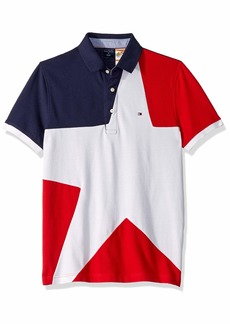 Tommy Hilfiger Adaptive Men's Polo Shirt with Magnetic Buttons Custom Fit  LG