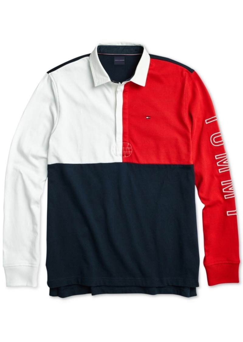 27cabafa Tommy Hilfiger Tommy Hilfiger Adaptive Men's Rugby Polo Shirt with ...