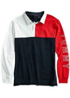 Tommy Hilfiger Adaptive Men's Rugby Polo Shirt with Velcro Closure at Back