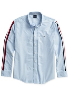 Tommy Hilfiger Adaptive Men's Taped Oxford Shirt with Magnetic Buttons