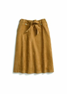 Tommy Hilfiger Adaptive Women's Midi Skirt Suede Magnet Buttons