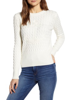 Tommy Hilfiger Anchor and Cable Cotton Blend Sweater