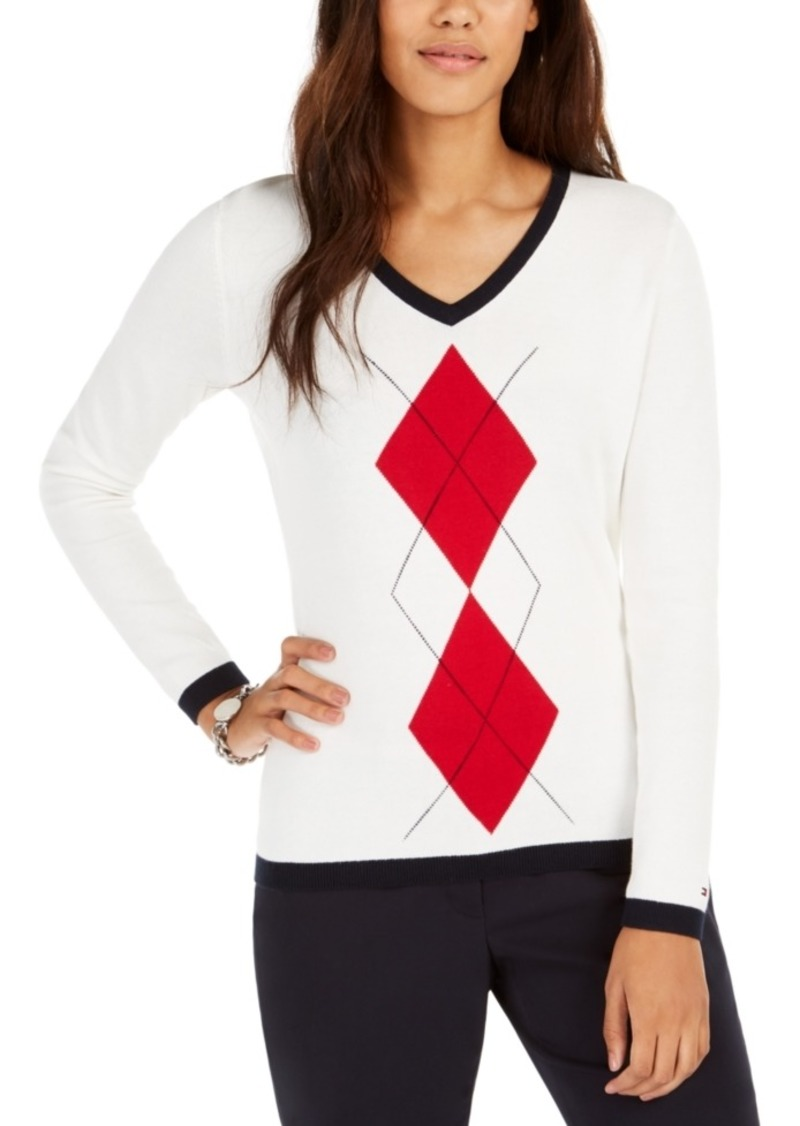 Tommy Hilfiger Argyle Ivy Cotton Sweater