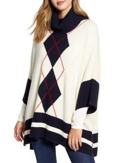 Tommy Hilfiger Argyle Poncho Sweater