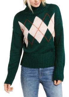 Tommy Hilfiger Argyle Turtleneck Sweater