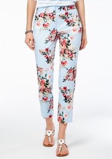Tommy Hilfiger Ashby Floral-Print Slim Pants, Created for Macy's