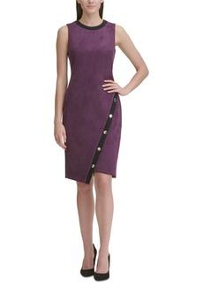 Tommy Hilfiger Faux-Suede Asymmetrical Sheath Dress