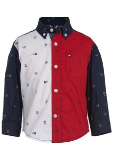 Tommy Hilfiger Baby Boys Cotton Colorblocked Printed Shirt