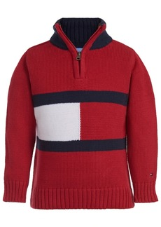 Tommy Hilfiger Baby Boys Cotton Flag 1/4-Zip Sweater