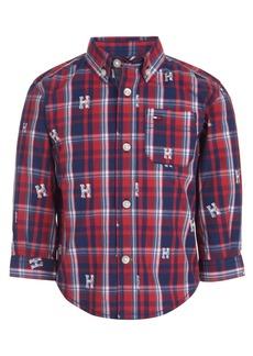 Tommy Hilfiger Baby Boys Cotton Logo-Print Plaid Shirt