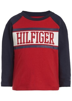 Tommy Hilfiger Baby Boys Cotton Logo Raglan T-Shirt