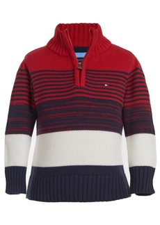 Tommy Hilfiger Baby Boys Cotton Striped Mock Neck Sweater