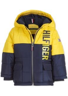 Tommy Hilfiger Baby Boys Jack Yellow Colorblocked Logo-Print Puffer Jacket