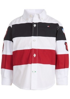 Tommy Hilfiger Baby Boys Ski Striped Cotton Button-Down Shirt
