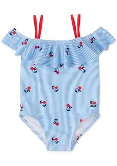 Tommy Hilfiger Baby Girls 1-Pc. Shoshanna Striped Cherry-Print Swimsuit