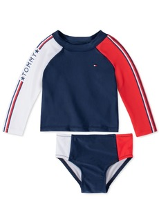 Tommy Hilfiger Baby Girls 2-Pc. Zelda Rash Guard Swimsuit