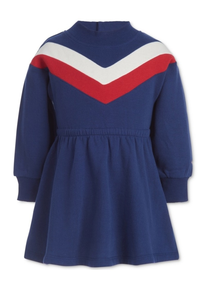 Tommy Hilfiger Baby Girls Chevron Sweatshirt Dress & Panty