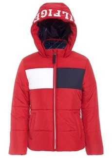 Tommy Hilfiger Baby Girls Colorblocked Hooded Cropped Puffer Jacket