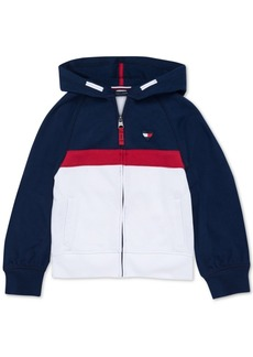 Tommy Hilfiger Baby Girls Colorblocked Zip-Up Hoodie