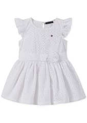 Tommy Hilfiger Baby Girls Cotton Eyelet Dress