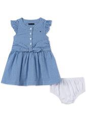 Tommy Hilfiger Baby Girls Cotton Gingham Shirtdress