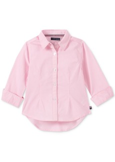 Tommy Hilfiger Baby Girls Cotton Striped Shirt
