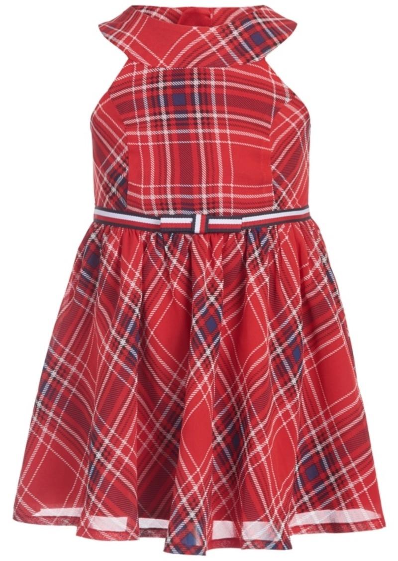Tommy Hilfiger Baby Girls Plaid Chiffon Dress & Panty