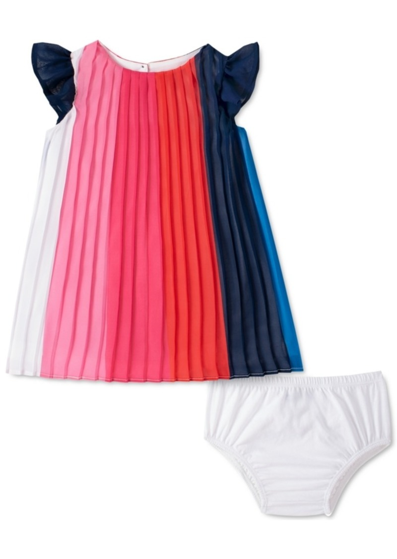 Tommy Hilfiger Baby Girls Pleated Colorblocked Dress