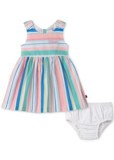 Tommy Hilfiger Baby Girls Striped Cotton Dress