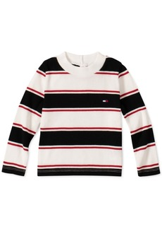 Tommy Hilfiger Baby Girls Striped Mock Neck Top