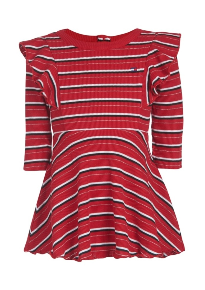 Tommy Hilfiger Baby Girls Striped Ribbed Dress