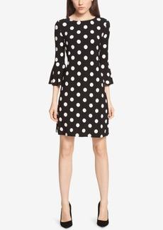 Tommy Hilfiger Bell-Sleeve Polka-Dot Dress