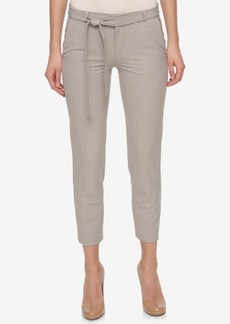 Tommy Hilfiger Belted Ankle Pants