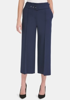 Tommy Hilfiger Belted Cropped Suit Pants