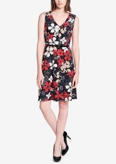 Tommy Hilfiger Belted Floral-Print Dress