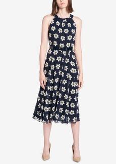 Tommy Hilfiger Belted Floral-Print Midi Dress