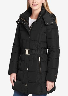 Tommy Hilfiger Belted Hooded Puffer Coat