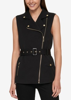 Tommy Hilfiger Belted Moto Vest, Created for Macy's