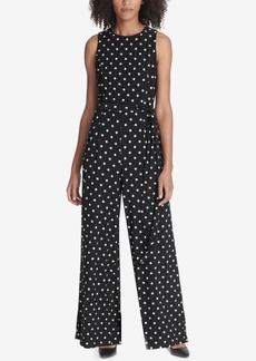 Tommy Hilfiger Belted Floral Printed Jumpsuit