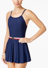 Tommy Hilfiger Belted Swimdress Women's Swimsuit